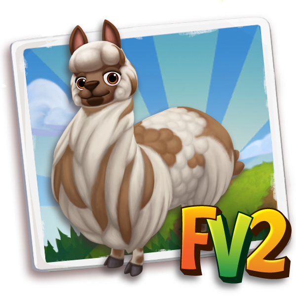 All free Farmville2 alpaca adult brownspottedhuacaya 600.png gifts