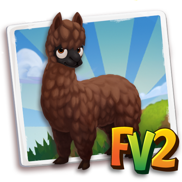 All free Farmville2 alpaca adult huacayabrown 600.png gifts